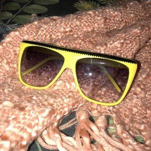 Vintage 1970's KOREA yellow Coachella sunglasses